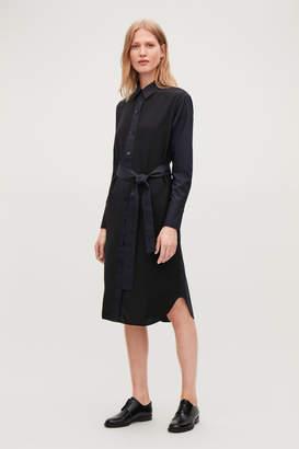 Cos SILK-COTTON MIX SHIRT DRESS