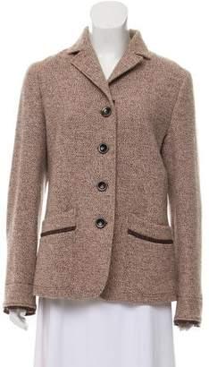 Luciano Barbera Wool Tweed Blazer