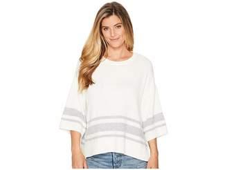 NYDJ Kimono Sleeve Striped Sweater