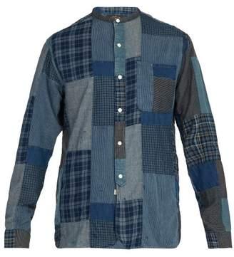 Rrl - Patchwork Cotton Blend Shirt - Mens - Blue Multi