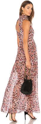 BCBGeneration Smocked Neck Maxi Dress