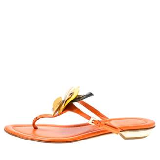 Christian Dior Orange Patent leather Flats