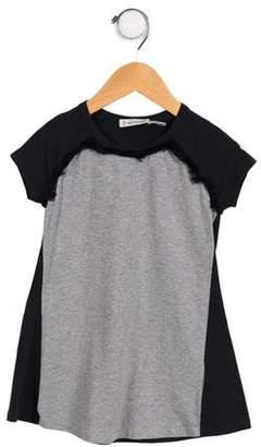 Moncler Girls' Knit Fringe-Trimmed Dress
