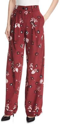 Valentino Floral-Print Pajama Pants