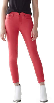 A Gold E Agolde Sophie High-Rise Skinny Cropped Leatherette Jeans
