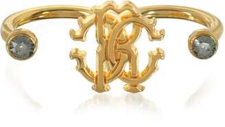 Roberto Cavalli Goldtone Metal Two Fingers Ring