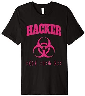 BA&SH Security Warrior Shirt Biohazard Sign & Bash Fork Bomb Code