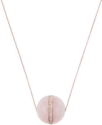 Michael Kors Rose Quartz Pendant Necklace $125 thestylecure.com