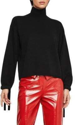 BCBGMAXAZRIA Bishop Sleeve Turtleneck Sweater