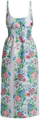 Emilia Wickstead Giovanna floral print shirred cloqué dress