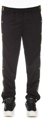 Fila Black Pants With Clip Buttons Side Openings