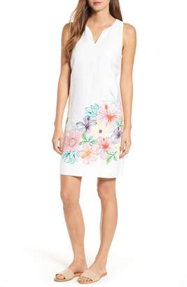 Tommy Bahama Hibiscus Sketch Shift Dress