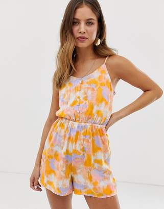 a7bce067d3 New Look strappy playsuit in tie dye