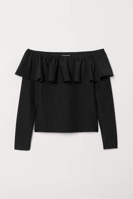 H&M Off-the-shoulder Top - Black