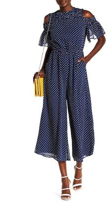 ABS by Allen Schwartz Collection Dotted Jumpsuit