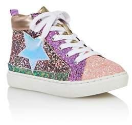 Steve Madden Girls' JHghstar Glitter High-Top Sneakers - Little Kid, Big Kid