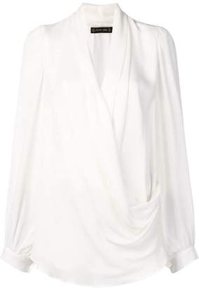 Plein Sud Jeans draped classic blouse