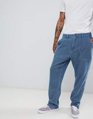 FAIRPLAY Fairplay high waist worker pant in blue stripe