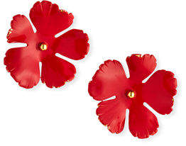 Jennifer Behr Grace Hand-Painted Flower Stud Earrings