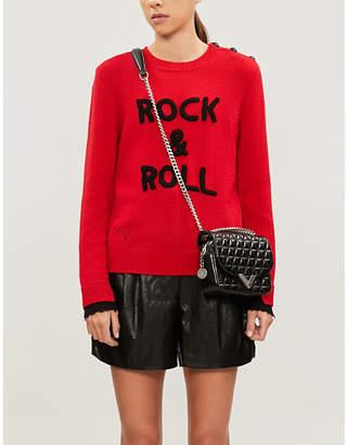 Zadig & Voltaire ZADIG&VOLTAIRE Delly 'Rock & Roll' slogan cashmere jumper