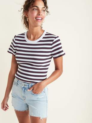 Old Navy Slim-Fit Striped Rib-Knit Ringer Tee for Women