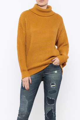 Cotton Candy Golden Yellow Sweater $56 thestylecure.com