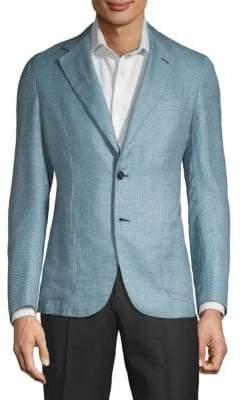 Brioni Printed Cashmere, Silk & Linen Jacket