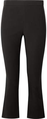 Rosetta Getty Cropped Stretch-crepe Flared Pants - Black