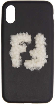 Fendi Black Shearling Forever iPhone X Case