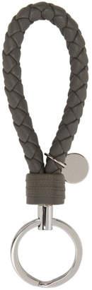Bottega Veneta Grey Intrecciato Knot Keychain