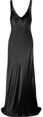 Galvan - Valetta Silk-satin Gown - Black