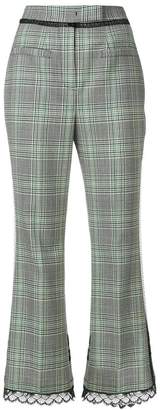 MSGM cropped checked trousers