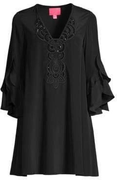 Lilly Pulitzer Tatiana Stretch-Silk Embellished Dress