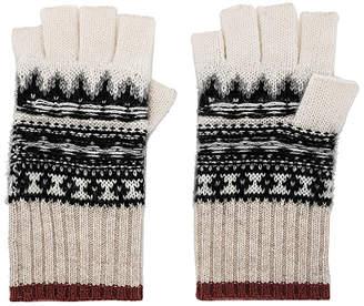 White + Warren Fair Isle Fingerless Gloves