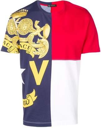 Versace Baroque colour-block T-shirt