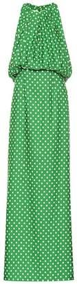 Calvin Klein Polka-dot satin twill gown