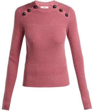 Etoile Isabel Marant Koyle Buttoned Cotton And Wool Blend Sweater - Womens - Pink