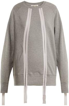 Charli COHEN Ladder-trim cotton sweatshirt