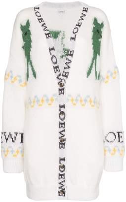 Loewe oversized logo-intarsia cardigan