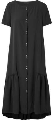 Hatch Josephine Crepe De Chine Midi Dress - Black