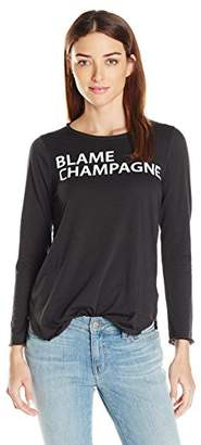 Chaser Women's Blame Champagne T-Shirt