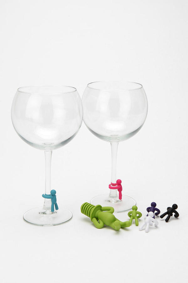 Urban Outfitters Drinking Buddy Wine Charms and Stopper Set