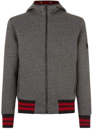 Ermenegildo Zegna Herringbone Tweed Print Hooded Jacket