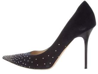 Jimmy Choo Suede Studded Pumps