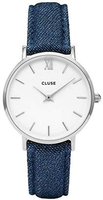 Cluse Womens Analogue Classic Quartz Watch with Leather Strap CL30030