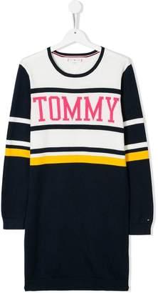 Tommy Hilfiger Junior intarsia logo knit dress