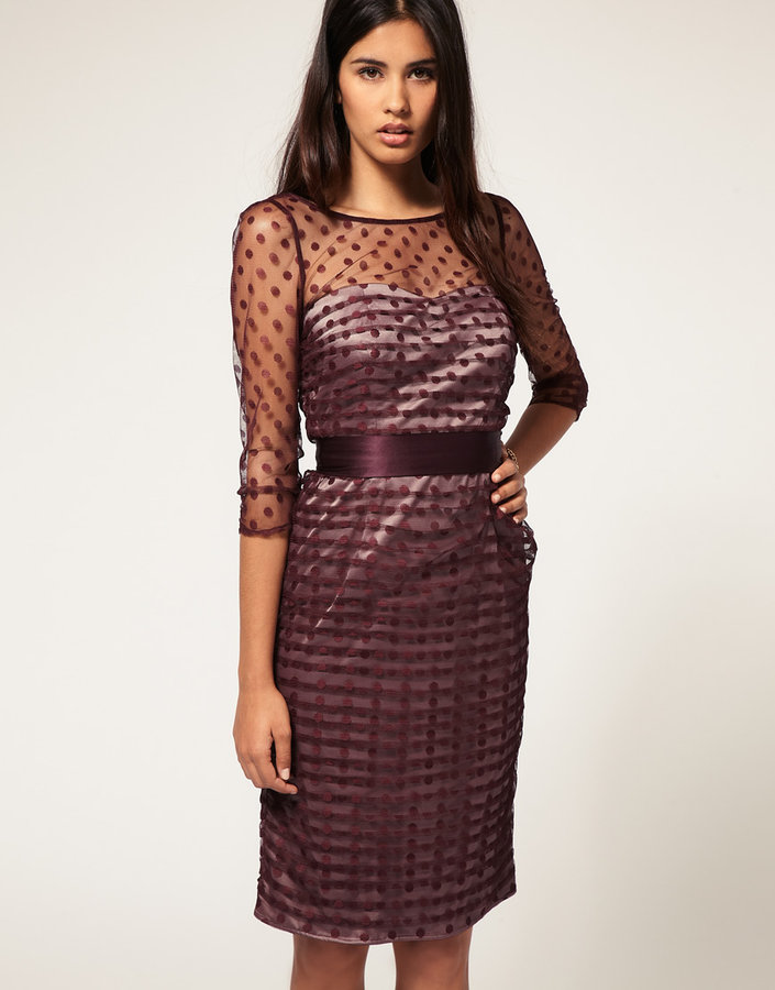 Coast Rini Spot Dress in Tulle