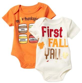Baby Starters Thanksgiving Bodysuits - Set of 2 (Baby)