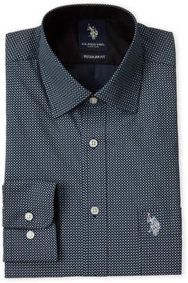U.S. Polo Assn. Geometric Print Regular Fit Dress Shirt