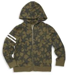 Chaser Little Boy's & Boy's Military Star Zip Hoodie